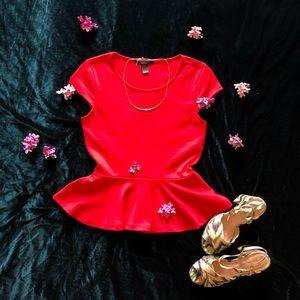 ❤️💋 Red Peplum Top 💋❤️